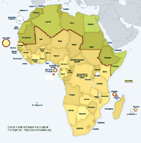 Karte Afrika.Sammelauftrag Des Sonndersammelgebiets Afrika Sudlich Der Sahara