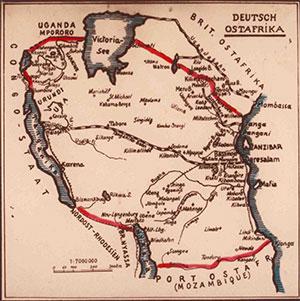 Afrika Karte Deutsch.100 Jahre Tanganjikabahn